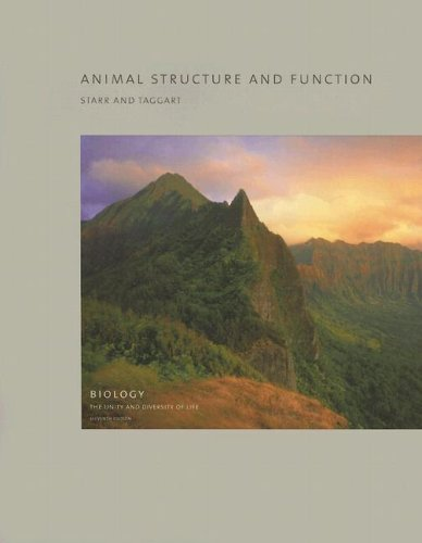 9780495125754: Volume 5 - Animal Structure and Function (Biology: The Unity and Diversity of Life)