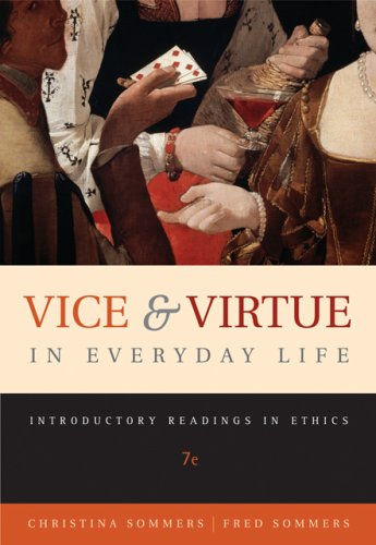 Vice and Virtue in Everyday Life: Introductory: Hoff Sommers, Christina,