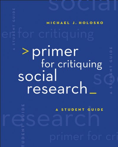 9780495156420: Bundle: Primer for Critiquing Social Research: A Student Guide + Printed Access Card (InSite Student Guide with InSite Passcard 1-Semester)