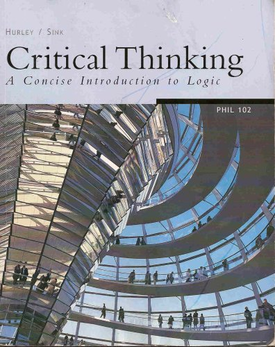 9780495158608: Critical Thinking a Concise Introduction to Logic Phil 102