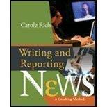 Writing and Reporting News Instructor's Manual: Rich, Carole; Harper,