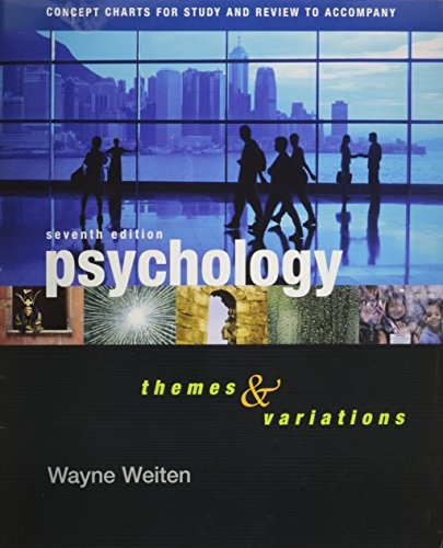 9780495170358: Concept Charts for Study and Review to Accompany Psychology: Themes and Variations