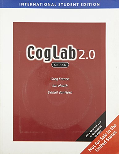 9780495172086: CogLab on a CD, Version 2.0, International Edition