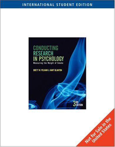 9780495172093: Conducting Research in Psychology: Measuring the Weight of Smoke