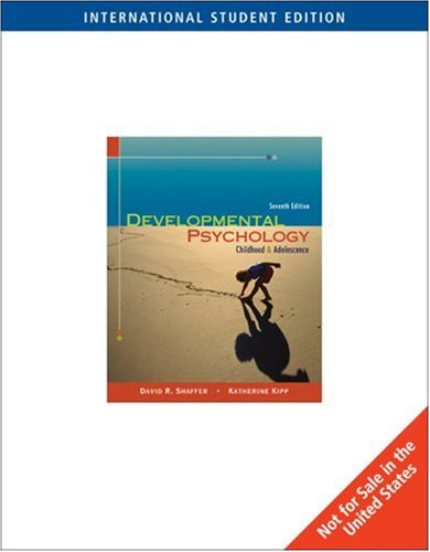 9780495186786: Developmental Psychology: Childhood and Adolescence (Ise)