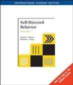 Self-Directed Behavior (Ise) (Ise) (0495187593) by Watson, David; Tharp, Roland G.