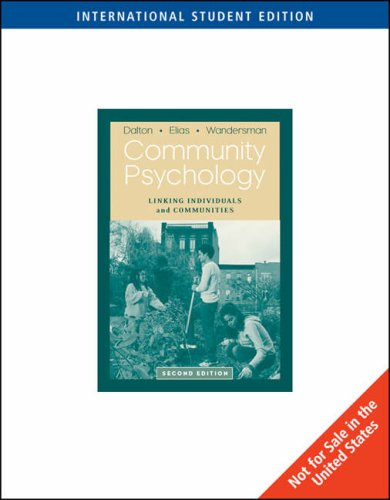 9780495187615: Community Psychology: Linking Individuals and Communities