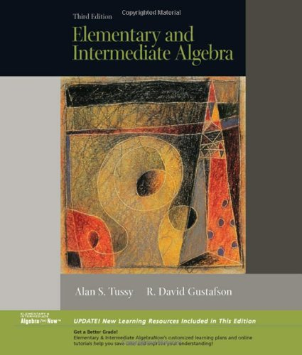 9780495188742: Elementary and Intermediate Algebra, Updated Media Edition (with CD-ROM and MathNOW™, Enhanced iLrn™ Math Tutorial, SBC Web Site Printed Access Card)