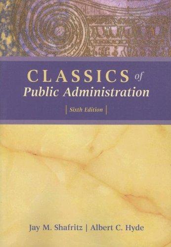 9780495189565: Classics of Public Administration