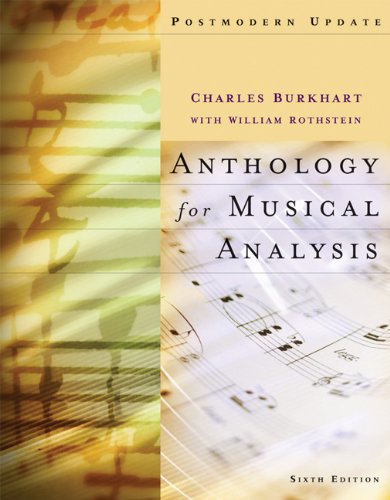 9780495189763: Anthology for Musical Analysis, Postmodern Update