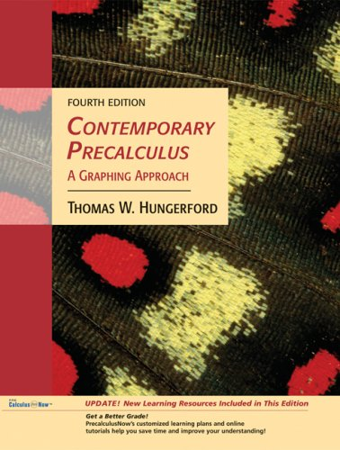 9780495189909: Contemporary Precalculus: A Graphing Approach, Media Update (with CD-ROM, Precalculusnow, Ilrn Tutorial, and Personal Tutor Printed Access Card)