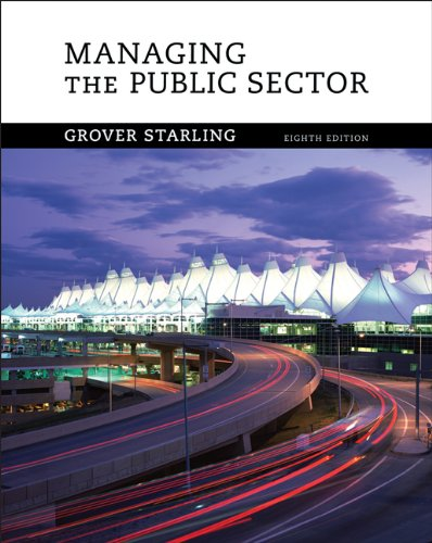 9780495189954: Managing the Public Sector