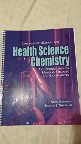 9780495209188: laboratory manual for health science chemistry