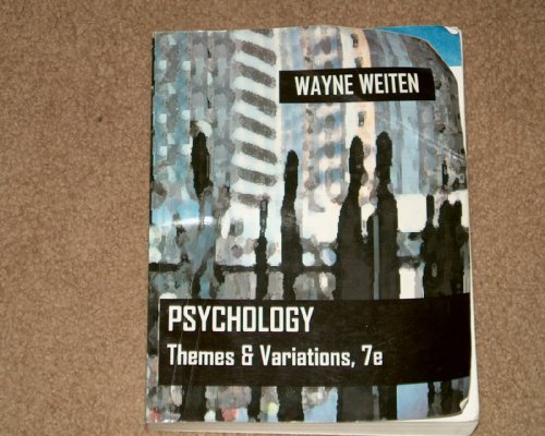 9780495214854: Psychology: Themes and Variations (2007) 7th Edition
