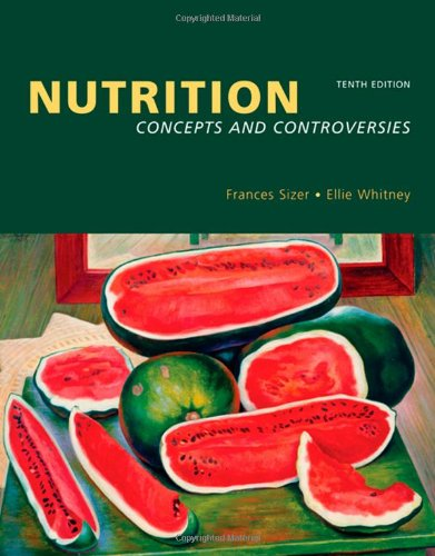 Nutrition 9780495220114 NUTRITION: CONCEPTS AND CONTROVERIES, MYPYRAMID UPDATE TENTH EDITION focuses on nutrition principles and their application while offering outstanding coverage of the biological foundations of nutrition without assuming previous knowledge of them. With its new design, contemporary coverage, and engaging writing style, it remains the leading Nutrition text for the non-majors or mixed majors/non-majors introductory course. Drawing readers into the study of nutrition, the authors have created a number of learning tools that are both appealing and accessible. From the chapter content and new  Do You Ever...  sections to the  Food Feature  boxes and end-of-chapter  Controversies,  students find the information they need to better understand important nutrition concepts and to make informed and responsible decisions about their own nutrition. Additionally, the  Do It  activities, now available online, on the student CD-ROM, and in a free booklet that can be packaged with the text, students can practice applying their nutrition knowledge. There is also the accompanying NUTRITION CONNECTIONS CD-ROM, a unique resource that includes animations, chapter quizzes, a comprehensive glossary,  Do It!  activities, and Web links. For instructors, we offer a newly redesigned Multimedia Manager that includes PowerPoint slides, animations, videos, and test questions. We also offer a new JoinIn on TurningPoint, a classroom resource to assess students' knowledge, take attendance, and more. So, whether looking for a text full of up-to-date information, a text that students enjoy reading, a text that offers a robust supplements package, or a text that can engage students and get them excited about studying, NUTRITION CONCEPTS AND CONTROVERSIES is the text for you!