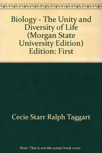 9780495242758: Biology-the Unity and Diversity of Life, Morgan State University, Biol 101