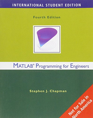 9780495244516: MATLAB Programming for Engineers