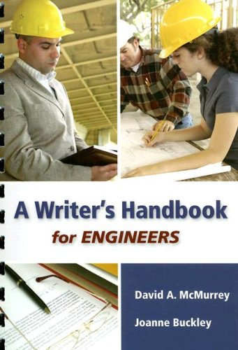 A Writer's Handbook for Engineers (9780495244820) by McMurrey, David A.; Buckley, Joanne