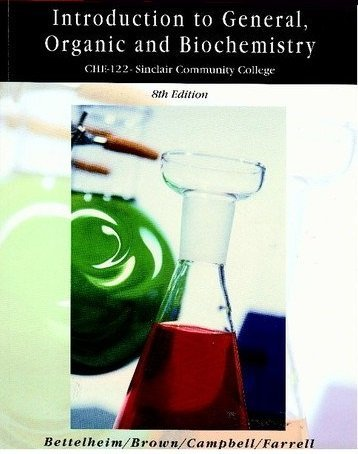 9780495294634: Introduction to General Organic and Biochemistry (CHE-122-Sinclair Community College)