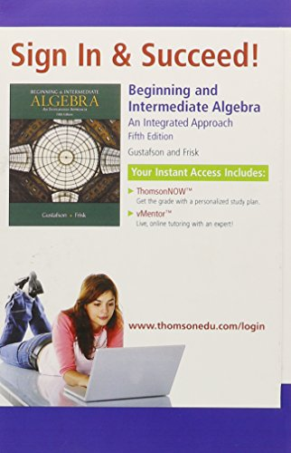 9780495318934: Beginning and Intermediate Algebra: An Integrated Approach
