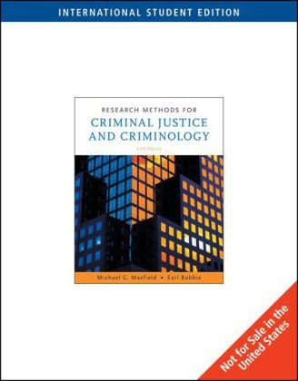 9780495381624: Research Methods for Criminal Justice and Criminology (ISE)
