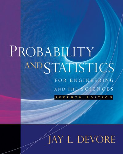 9780495382195: Student Solutions Manual for Devore's Probability and Statistics for Engineering and the Sciences, 7th