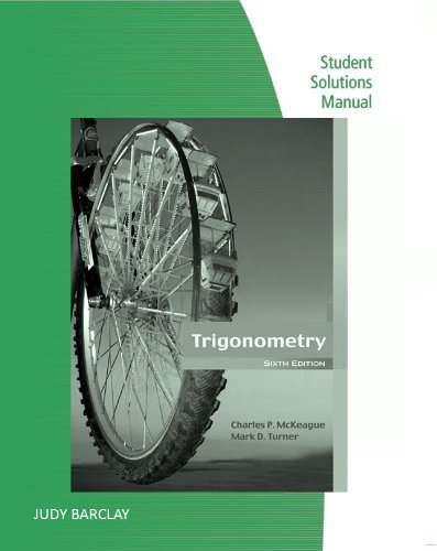9780495382584: Student Solutions Manual for McKeague/Turner's Trigonometry, 6th