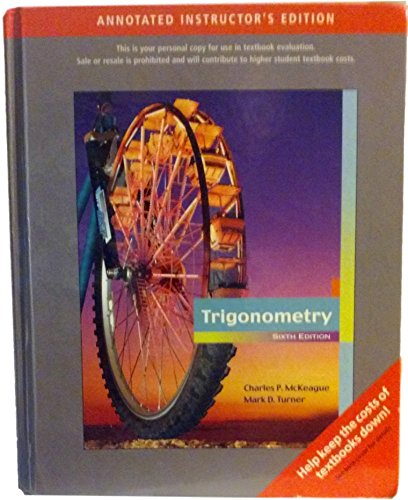 9780495382607: Trigonometry, 6th Edition