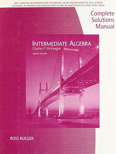 9780495382706: Intermediate Algebra