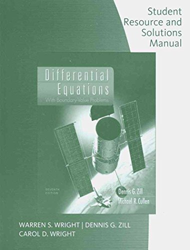 9780495383161: Student Solutions Manual for Zill/Cullen's Differential Equations with Boundary-Value Problems, 7th