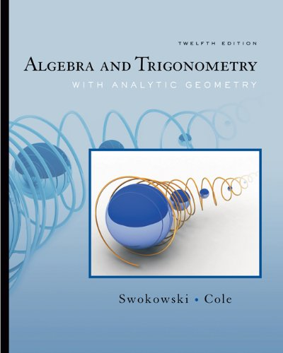 9780495383420: Algebra and Trigonometry with Analytic Geometry