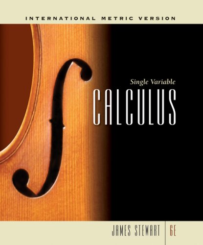 9780495383659: Single Variable Calculus, International Metric Edition