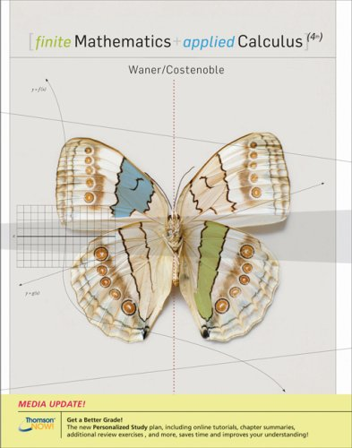 9780495384274: Finite Mathematics and Applied Calculus, Enhanced Review Edition (with CengageNOW 2-Semester and Personal Tutor Printed Access Card)