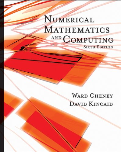 9780495384717: Student Solutions Manual for Cheney/Kincaid's Numerical Mathematics and Computing