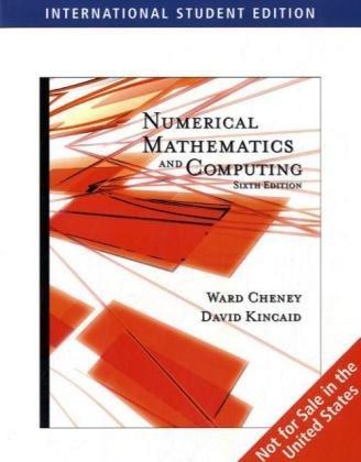 9780495384724: Numerical Mathematics and Computing (ISE)