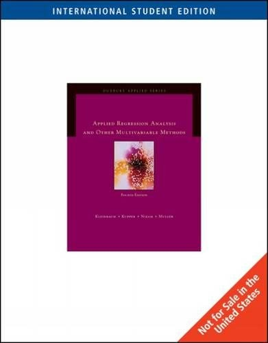 9780495384984: Applied Regression Analysis and Other Multivariable Methods, International Student Edition