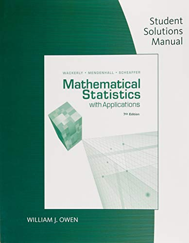 9780495385066: Student Solutions Manual for Wackerly/Mendenhall/Scheaffer S Mathematical Statistics with Applications, 7th