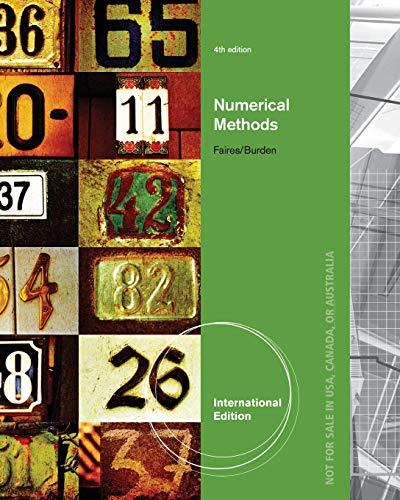 9780495385691: Numerical Methods, International Edition
