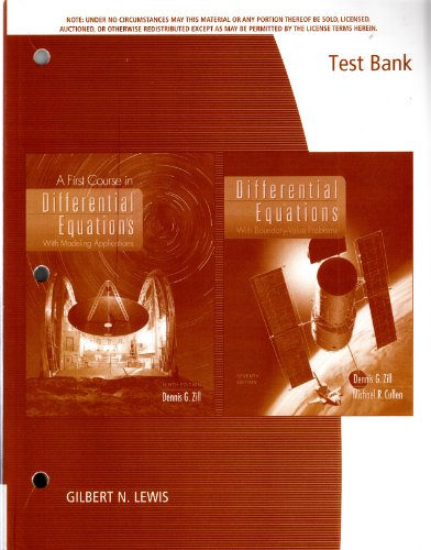 9780495386063: Tb 1st Course in Diff Equations 9e