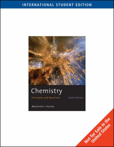 9780495387732: Chemistry ,Principles &Reactions [SOLUTIONS MANUAL ONLY] 6th edition