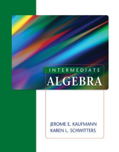 9780495388005: Student Solutions Manual for Kaufmann/Schwitters' Intermediate Algebra