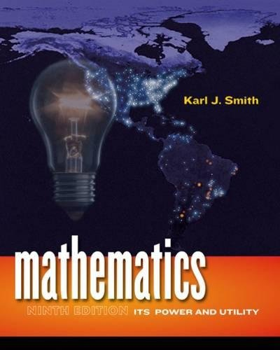 9780495389132: Mathematics: Its Power and Utility (Available 2010 Titles Enhanced Web Assign)