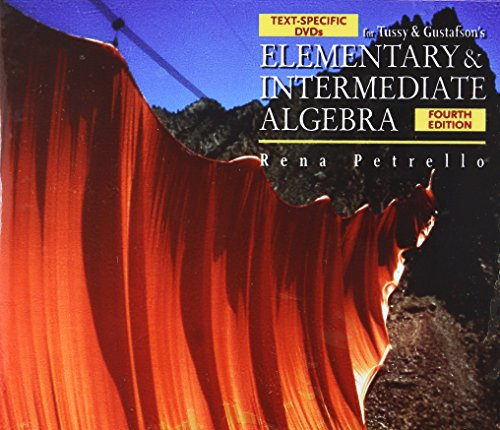 9780495389798: Text-Specific DVD for Tussy/Gustafson's Elementary and Intermediate Algebra, 4th