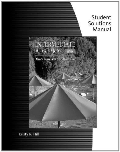 9780495389903: Student Solutions Manual for Tussy/Gustafson's Intermediate Algebra, 4th