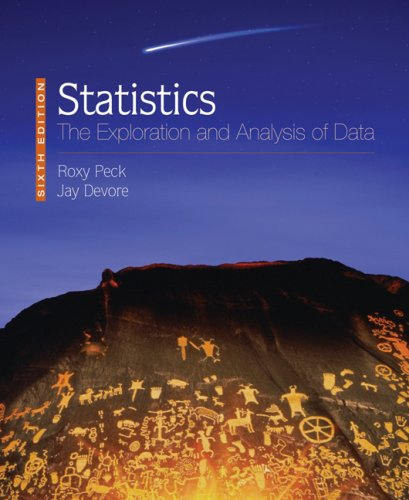 9780495390879: Statistics: The Exploration and Analysis of Data (Available 2010 Titles Enhanced Web Assign)