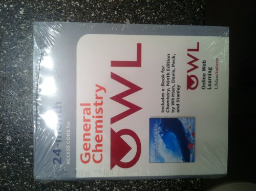 9780495391678: OWL General Chemistry Access Code (24 Month) Includes E-book 9e Chemistry By Whitten, Davis, Peck, and Stanley