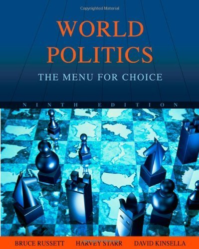 9780495410683: World Politics: The Menu for Choice