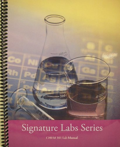9780495455912: CHEM 101 Lab Manual (Signature Labs Series)