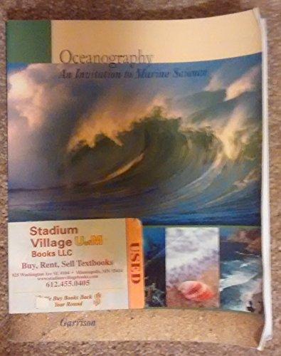 9780495461562: Oceanography, an Invitation to Marine Science