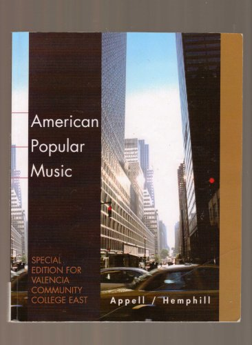 9780495466864: American Popular Music (Special Edition For Valencia Community College East)